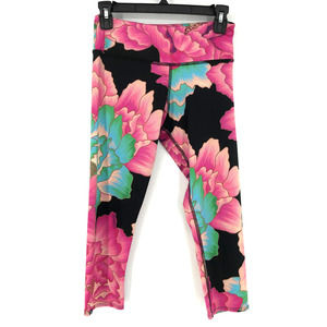Onzie Floral Print Capri Leggings Size S/M